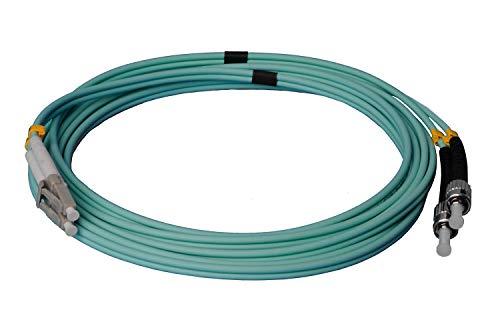 Cable de fibra óptica LWL - 15 m OM3 LC/UPC a ST/UPC...