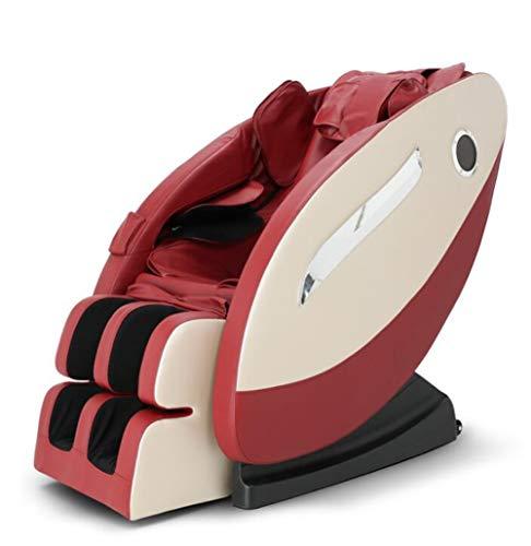 CSPFAIZA Massagesessel Intelligent Elektrisches Sofa mit Wärmefunktion, 3D Surround Sound, Shiatsu-Massage, Ganzkörper Kneten - 3 Farben Erhältlich,Red
