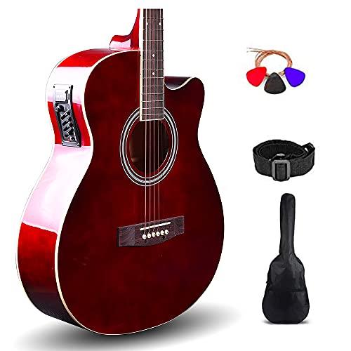 Kadence Frontier Series, Semi Acoustic Guitar With Die Cast Keys (Bag,Strap,Strings And 3 Picks) (Brown)
