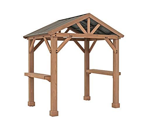 Westmann Holzpavillon 2x2,5 m Laval BBQ Gartenpavillon Grillpavillon Grillunterstand Terrassenüberdachung Grillpavillon 174x245 cm