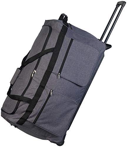 Xcase Faltbare XXL-Reisetasche mit Trolley-Funktion & Teleskop-Griff, 160 l