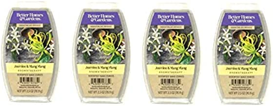 Better Homes & Gardens Aromatherapy Essential Oil Infused Wax Melts - 2.5 OZ - 4 Pack (Jasmine & Ylang Ylang)