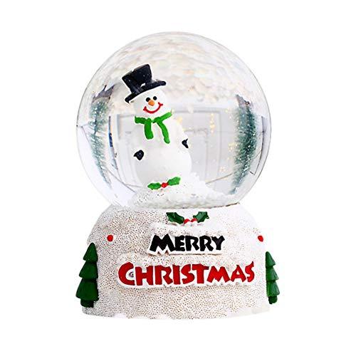 MOLEK LED Schneekugel, Weihnachtsglühende Kristallglaskugel Weihnachtskindergeschenk mit Wasser Weihnachtszubehör Dekoration