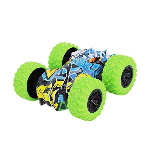 Trägheit Doppelseite Pull Back Cars, Reibungsbetriebene Fahrzeuge Stunt-Graffiti-Auto Off Road Modell Spielzeugauto Bestes Geschenk für Kinder
