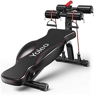 comprar comparacion YOLEO Banco Abdominales Ajustable de Musculación, Sit up Banco, Banco Multifunción, Fácil Montaje, Capacidad Máxima de 200 kg
