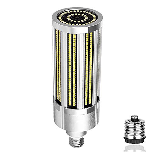 Bombilla LED de maíz súper brillante de 80 W sin ventilador (haluro metálico de 800 W) - Bombilla LED de base E27 / E40-9642 lúmenes para iluminación de techo comercial de área grande, taller, alma