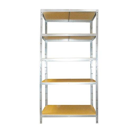 Estantería de almacenamiento - galvanizada, medidas 180 x 90 x 40 cm