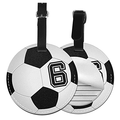 Etiquetas para Equipaje Bolso ID Tag Viaje Bolso De La Maleta Identifier Las Etiquetas Maletas Viaje Luggage ID Tag para Maletas Equipaje Jugador de fútbol 6 No 6 Fútbol