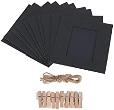 Rubik 10 pcs Wall Decor Hanging Photo Frame Set with Wooden Clip and Hemp Rope for Fujifilm Instax Mini 9 8 70 7s 90 25 50...