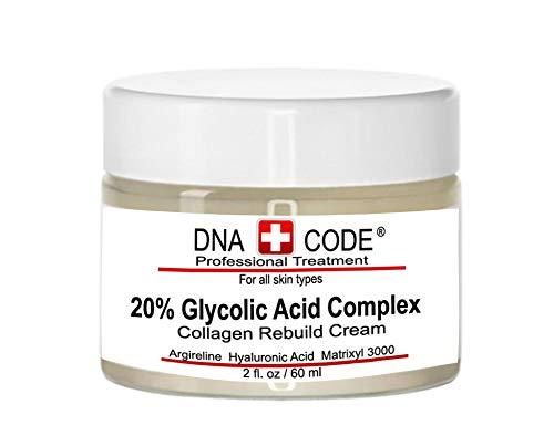 Anti-Aging 20% Glycolic Acid Complex Collagen Reubild Cream w/Argireline,Matrixyl 3000, CoQ10