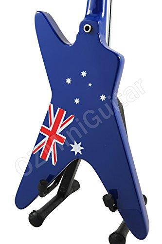 Washburn Dime Australia - Guitarra en miniatura, diseño de bandera australiana