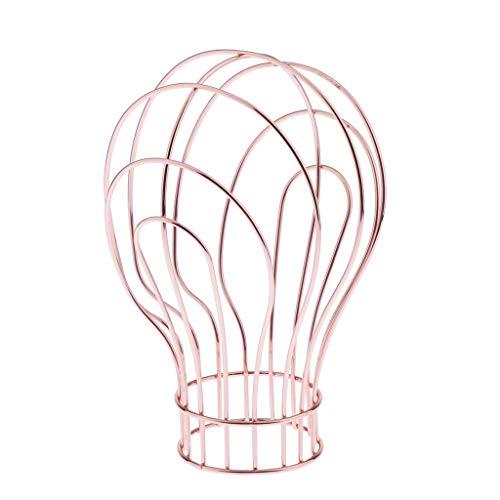 Cabeza de Maniquí Metal Soporte de Exhibición Estilo Moderno Expositor para Pelucas, Gafas, Sombrero - Oro rosa