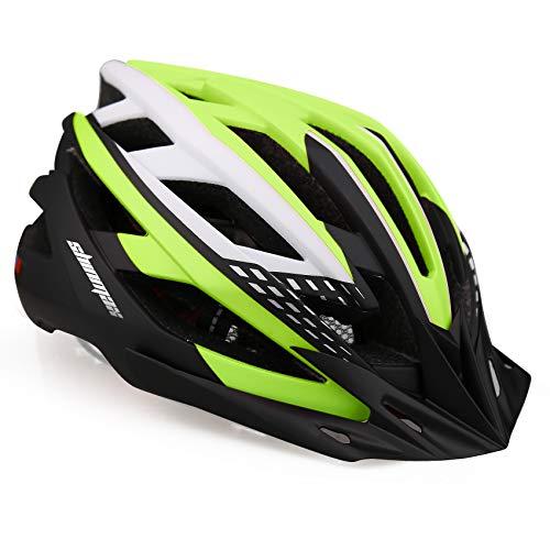Shinmax Casco de Bicicleta con Luz LED USB Visera Desmontable Ajustable con Certificación CE Casco de Bicicleta BMX Scooter Montaña y Carretera Especializado para Adultos Casco Bicicleta con M