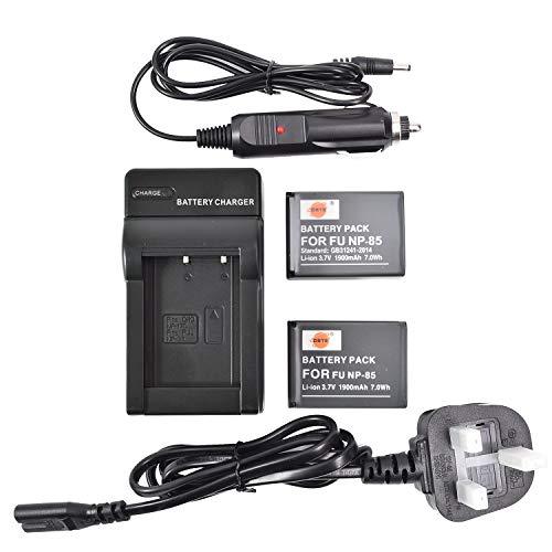 DSTE DC122U EU-Stecker Ladegerät + 2x NP-85 Li-Ionen Akku für Fujifilm FinePix SL1000 SL240 SL260 SL280 SL300 SL305 SLR Kameras