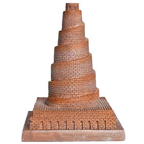 ZZKJXHJ Decoração de modelo arquitetônico de resina/escultura europeia artesanato arquitetônico/modelo de torre de babel/ornamentos de decoração criativa para casa (presentes)