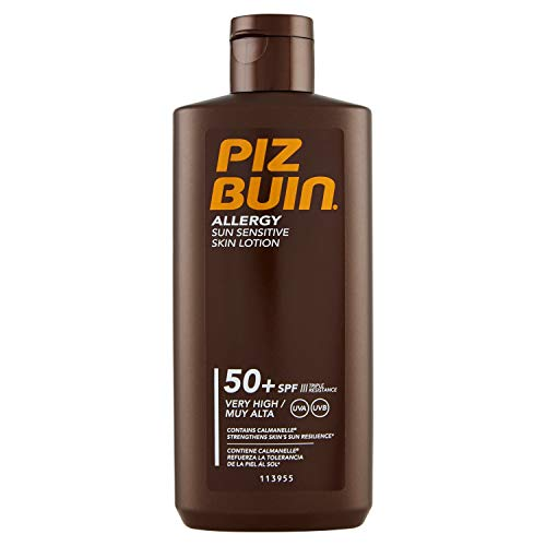 Piz Buin Allergy Sensitive Skin Sun Lotion LSF 50+, 200 ml