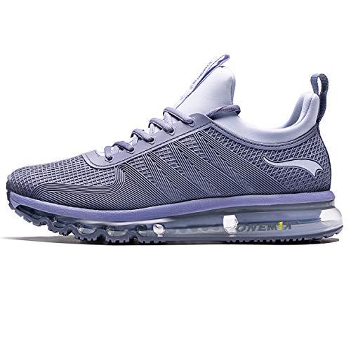 ONEMIX Scarpe da Ginnastica da Uomo per Trail Running da Uomo - Sneakers da Ginnastica Alte con Design Unico Y1191-Silver-43