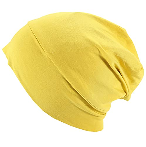 Harewom Satin Lined Sleep Bonnet for Chemo Patient Slap Silky Sleeping Cap Stylish Slouchy Beanie Hat for Women or Men Curly Hair