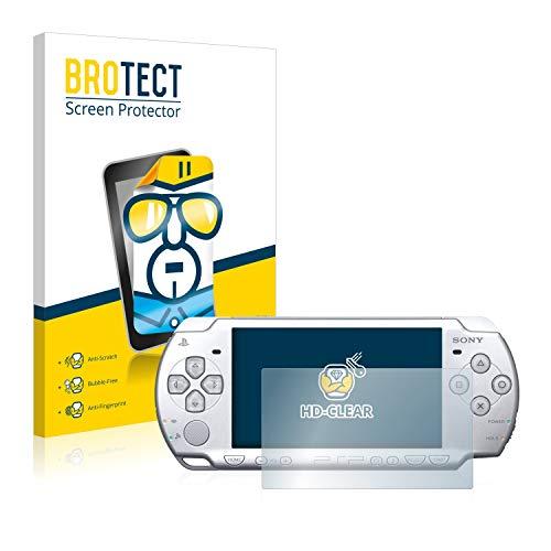 BROTECT Protector Pantalla Compatible con Sony PSP 2004 Protector Transparente (2 Unidades) Anti-Huellas