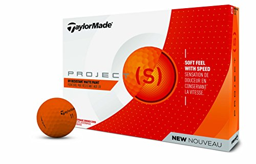 TaylorMade TM18 Project (S) matt orangedz Nudeln Neon Matt Orange Golf Ball (Dutzend)