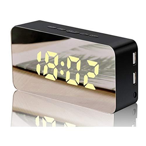 Guangmaoxin - Despertador Digital LED con Doble Puerto USB, luminosidad Ajustable, Noche con función de repetición para casa, Oficina, Hotel