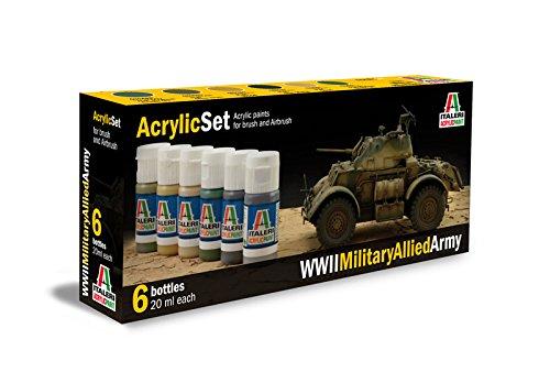 Italeri 510000440 - Conjunto de Colores para los Modelos Pintura, la razón: Las Tropas aliadas, la Segunda Guerra Mundial