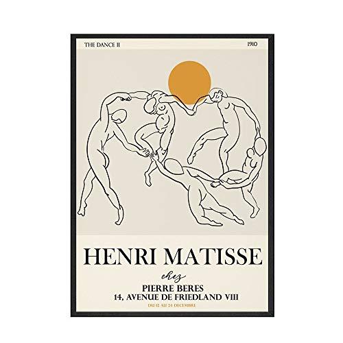 Carteles e impresiones de Picasso Matisse Vintage abstracto chica cuerpo flor pared arte sin marco pintura decorativa en lienzo E 60x90cm