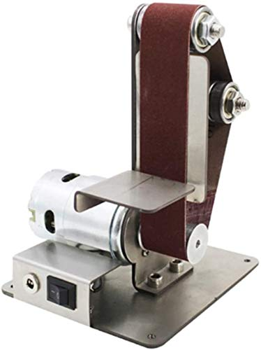 Guajave Mini Bricolaje Lijadora de Banda Lijado, Esmerilado Máquina Abrasivo Cintas Amoladora Pulido - 795 sin Adaptador