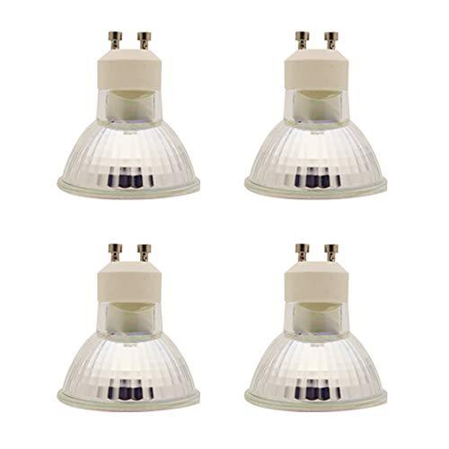 XINYANSEE - Bombillas LED (GU10, 1,5 W, equivalente a halógeno de 20 W, luz blanca cálida (3000 K), 100 lm, ángulo de haz de 120°, 4 unidades)