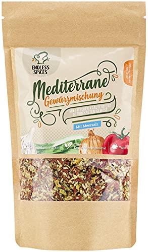 Endless Spices mediterrane Gewürzmischung, italienische Kräuter-Mischung, leckeres Pasta- und Pizza-Gewürz vegan, vegetarisch, 150 g