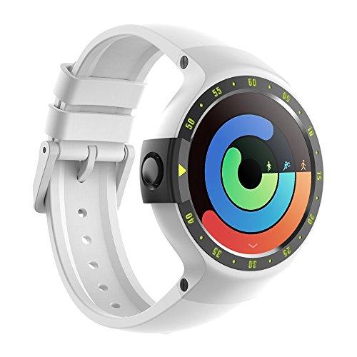 Ticwatch S Sport - Reloj inteligente con GPS, pantalla táctil OLED y resistente al agua, compatible con iOS y Android, sistema Android Wear 2.0, color blanco