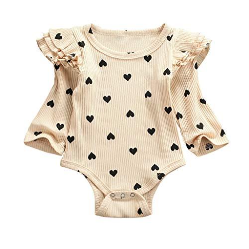 Essentials Baby-Body, Langarm, Baby Mädchen Kleidung Polka Dots Strampler .Lang Kleinkind Outfits,Latzhose Prinzessin Neugeborenen Kleinkind Overalls