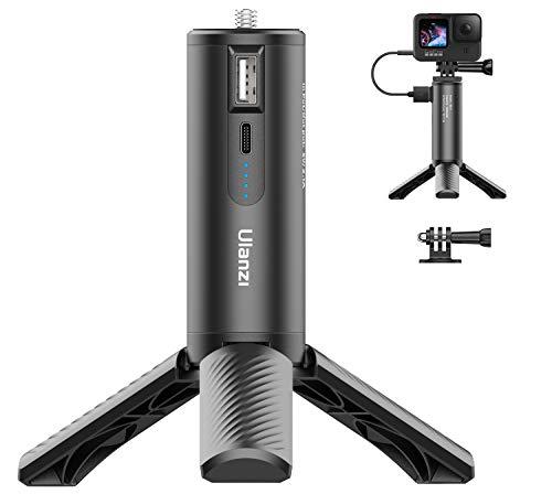 Ulanzi BG-4 カメラハンドグリップ +三脚付き gopro9 マウント 充電式 5000mAh カメラiPhone/gopro 充電/Gopro 9 8 7 6 5 / Osmo Pocket/Osmo Action / A6400 / RX100 / 用