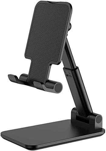 Adjustable Cell Phone Stand, Foldable Phone Holder Tablet Stand for Desk, Angle Height Adjustable Cell Phone Stand Compatible with Phone 11 Pro Xs Xs Max Xr, iPad Mini,Tablets