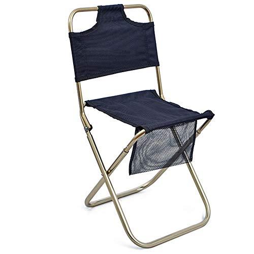 Folding chair Respaldo al Aire Libre Taburete Plegable aleación de Aluminio Respaldo Plegable Maza Silla de Dibujo portátil Simple Maza