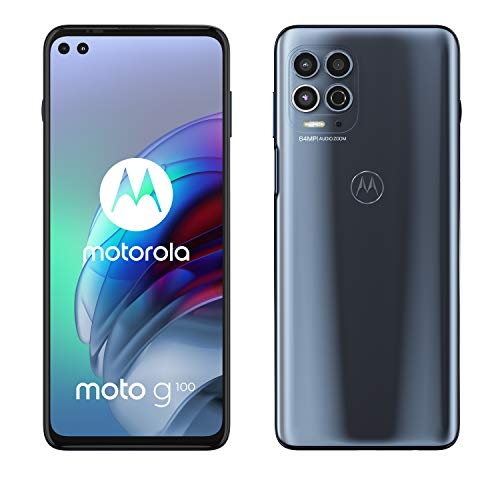 Motorola moto g100 (5G, fotocamera 64 MP, batteria 5000 mAH, 8 128 GB, Display 6.7  FHD+ 90Hz, NFC, Dual SIM, Android 11), Slate Grey, cover inclusa