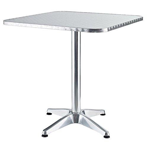 VERDELOOK Alumine Tavolo da Giardino Quadrato in Alluminio, 60x60x70 cm, per arredo Esterni