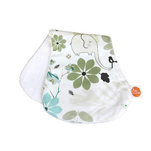 millemarille Spucktuch aus Bambusfrottee | antibakteriell & saugstark, Ökotex 100 | hygienische Alternative zu Mullwindeln & Moltontüchern | unverzichtbar für Baby-Erstausstattung | Elegant Elephants