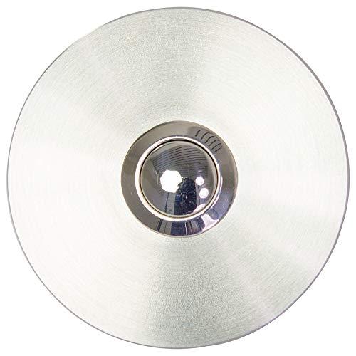 MTEC Klingelplatte, Edelstahl, IP65, rund, 53mm, unsichtbare Befestigung, 6-24V