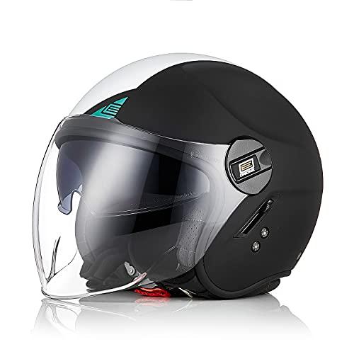 ORIGINE Casco moto aperto con doppia visiera apribile XL