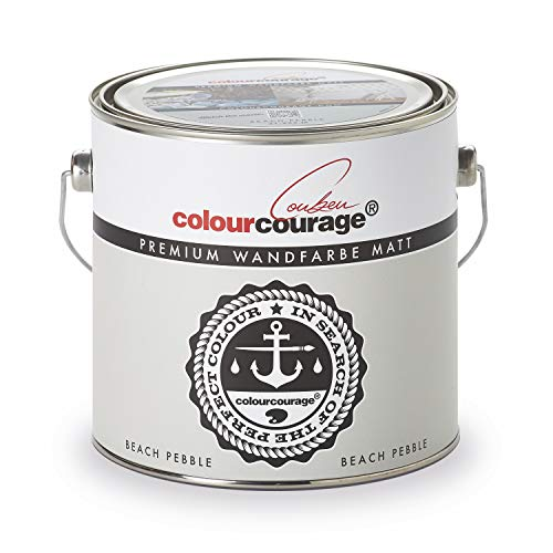colourcourage L709449572 Premium matt Beach Pebble 2,5L bunte Wandfarbe