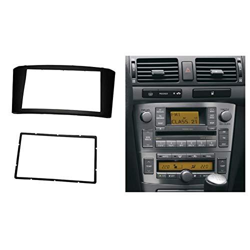 HIGHER MEN Car Accessories Parts Doble DIN Panel estéreo for Toyota Avensis 2002-2008 Fascia Radio DVD de instalación de Soporte for Tablero Kit de Acabado de la Cara del Bisel Facia