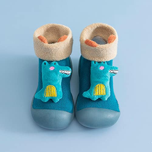 Unisex Kinder Krabbelschuhe, Baby Anti Rutsch Jungen Mädchen Erste Lauflernschuhe Trainingsschuhe Strumpf Boden Sneaker Atmungsaktiv Warm Weiche Gummisohle Rutschfeste Schuhe Socken Pantoffel