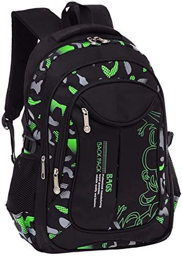 MQJ Impressions Élémentaire High School Sac À Dos Bookbag Pour Les Garçons Adolescents Voyage Rucksack Daypack),Vert,S (26X16X40Cm)