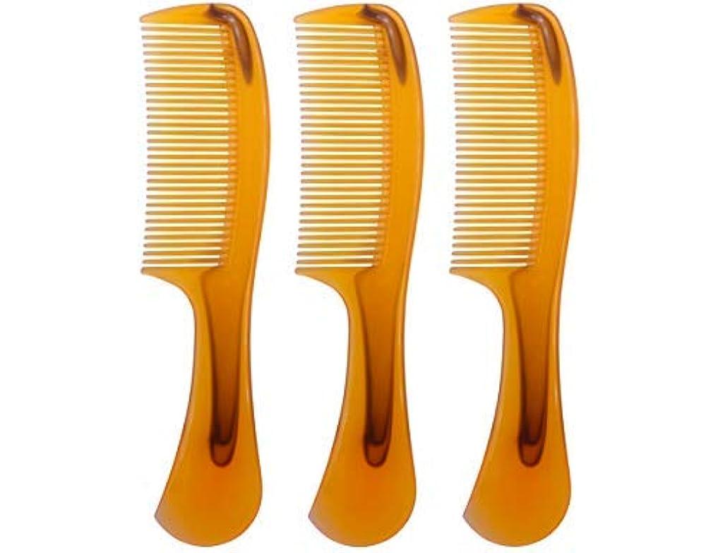 有罪うめき画家LBY 3pcs 16 cm Hair Comb Round Handle Comb Hair Care Comb Plastic Yellow [並行輸入品]
