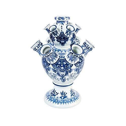 Tulpenvaas XL - 42 cm - Vaas Delfts blauw - Vaas keramiek