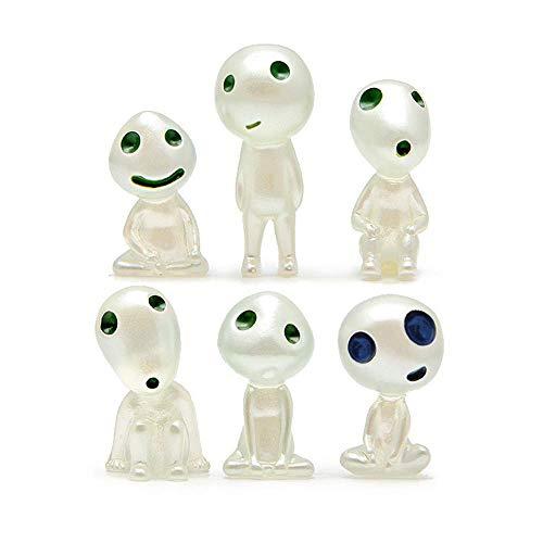 Juguete Miniatura Adorno Luminoso,6 Pcs Princesa Mononoke Luminoso áRbol Elfos,Figura Decorativa para JardíN en Miniatura,Utilizado para Decoraciones Interiores y Exteriores Del Hogar y El JardíN