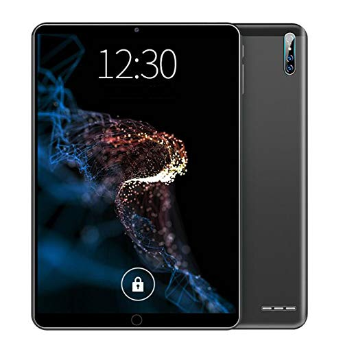 ELLENS Tableta Android de 10.1 Pulgadas Ultra portátil, 32 GB de ROM, 2 GB de RAM, 64 GB Ampliable, Doble SIM y cámara Dual, batería de 4000 mAh (Negro)
