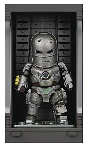 Figura Hall of Armor Iron Man Mark I 8 cm. Iron Man 3. Beast Kingdom Toys. Mini Egg Attack. con luz