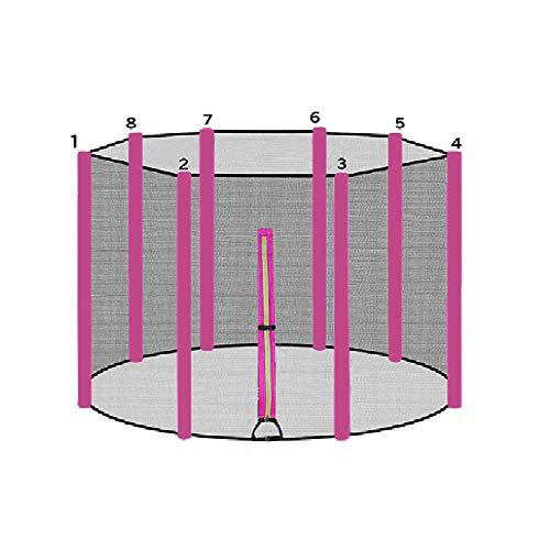 ULTRAPOWER SPORTS Trampolinzubehör Ersatznetz Sicherheitsnetz für Trampolin | Ø 366 | 8 Stangen | UV-beständig | Extrem Reißfest Trampolinnetz Pink